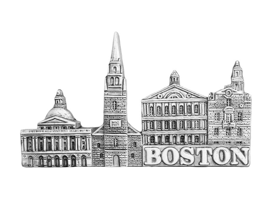Boston Landmarks Gray