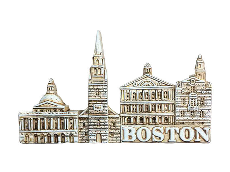 Boston Landmarks Sepia