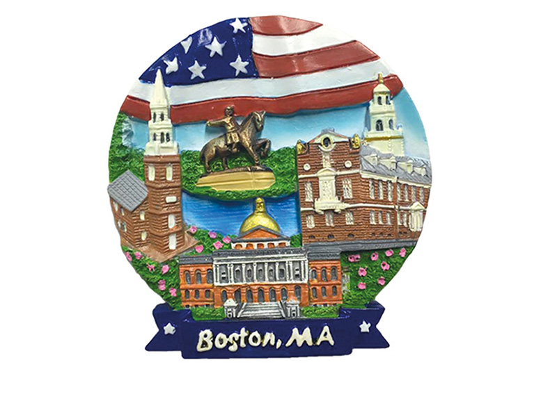 Boston Flag & Landmarks