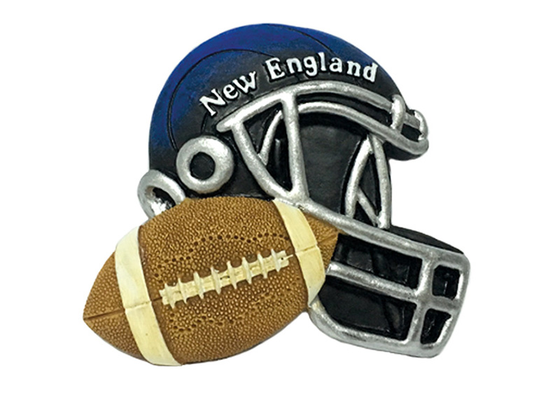 New England Football & Helmet