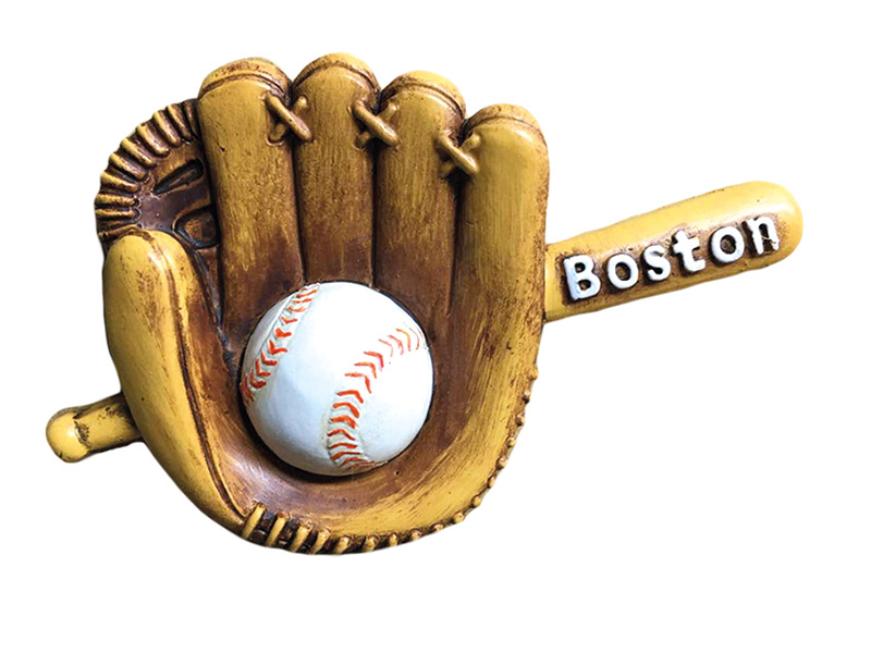 Boston Baseball Glove & Bat