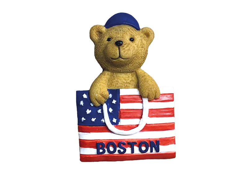 Boston Bear with Flag
