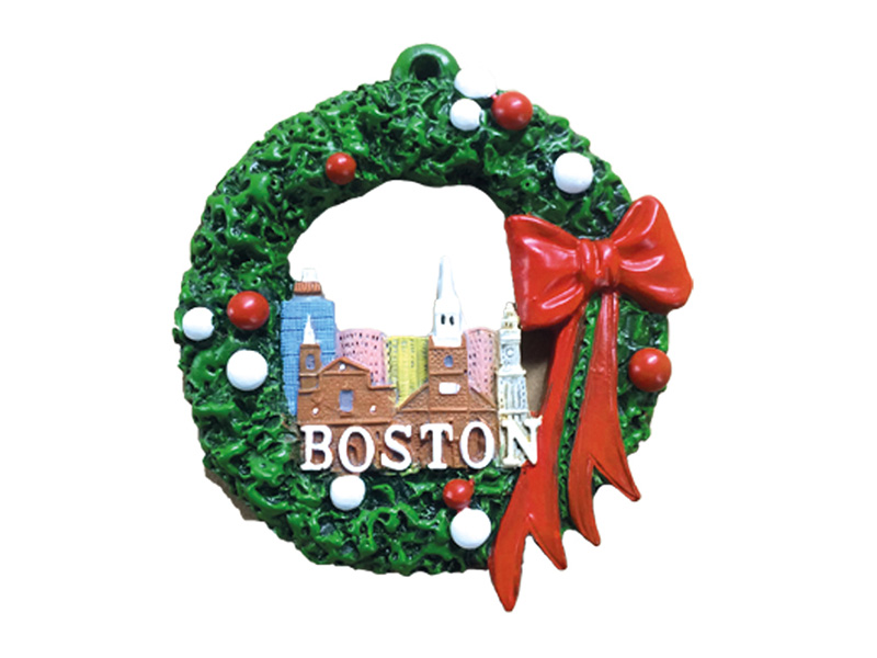 Boston Skyline Wreath Ornament
