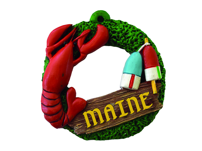 Maine Lobster Buoy Ornament