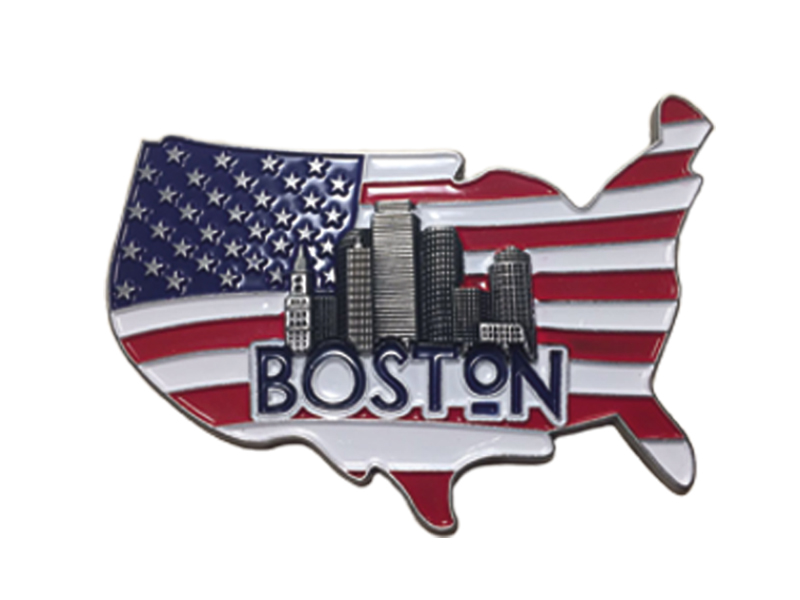 Boston Flag Map